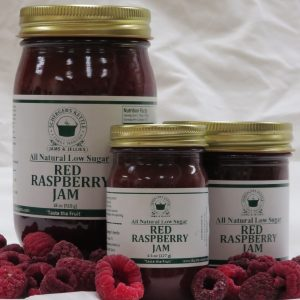 All Natural Low Sugar Red Raspberry Jam