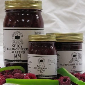 Spicy Red Raspberry Jalapeno Jam